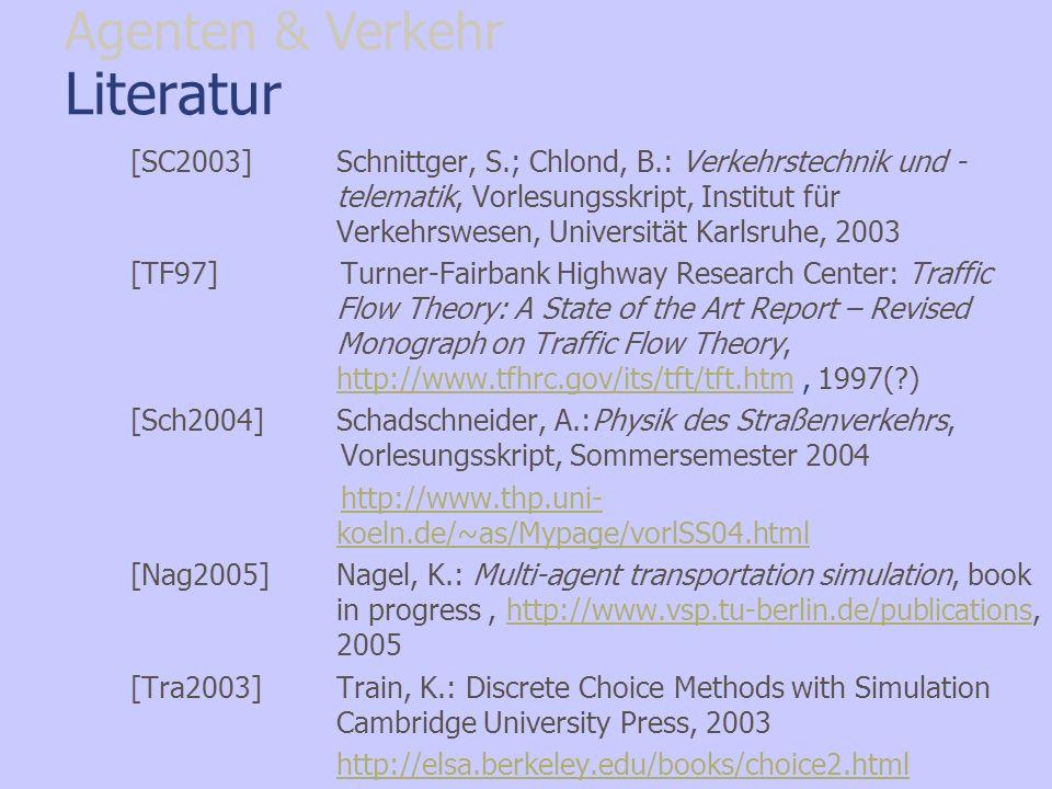 Literatur Agenten & Verkehr