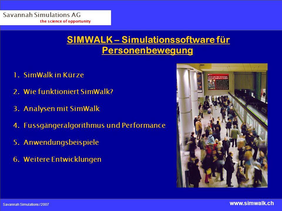 SIMWALK – Simulationssoftware für Personenbewegung