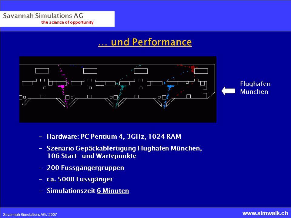 … und Performance Savannah Simulations AG Flughafen München