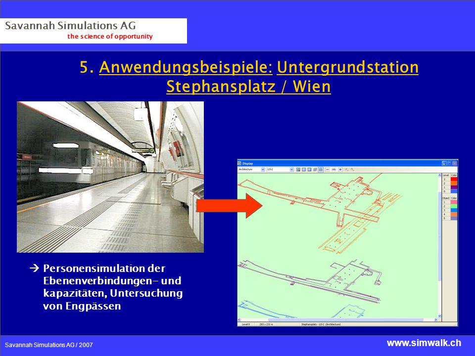5. Anwendungsbeispiele: Untergrundstation Stephansplatz / Wien