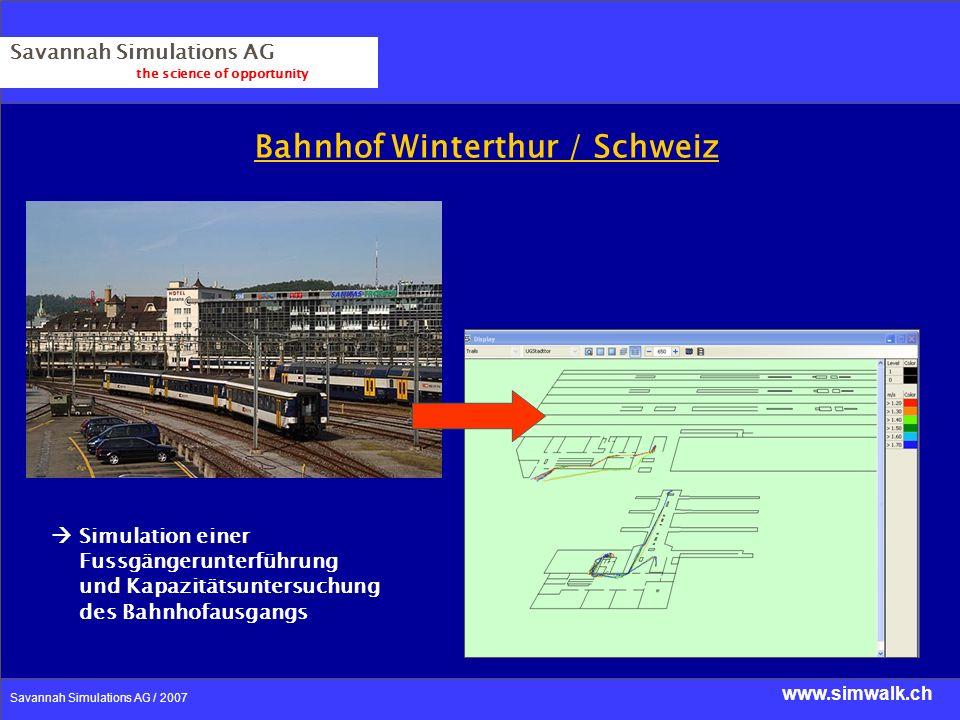 Bahnhof Winterthur / Schweiz
