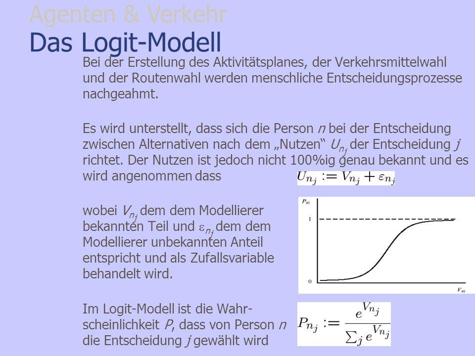 Das Logit-Modell Agenten & Verkehr