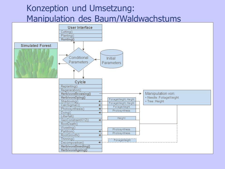 Konzeption und Umsetzung: Manipulation des Baum/Waldwachstums