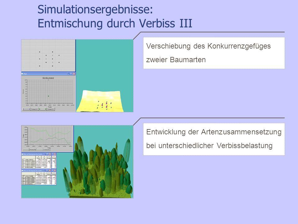 Simulationsergebnisse: Entmischung durch Verbiss III