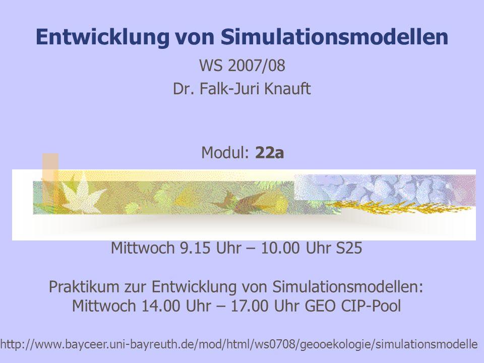 Entwicklung von Simulationsmodellen