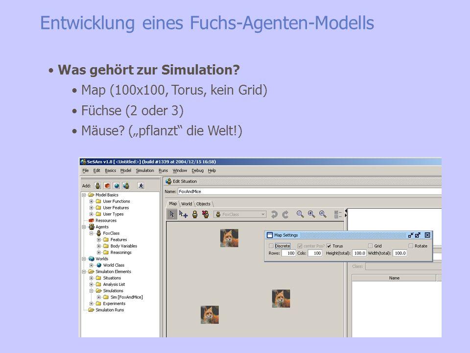 Entwicklung eines Fuchs-Agenten-Modells