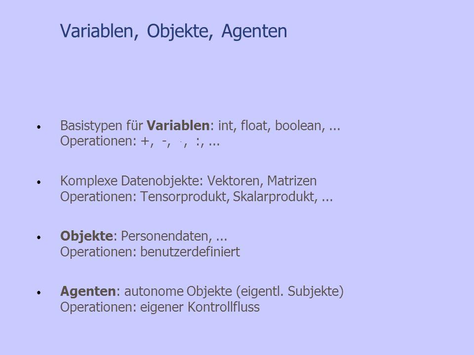 Variablen, Objekte, Agenten