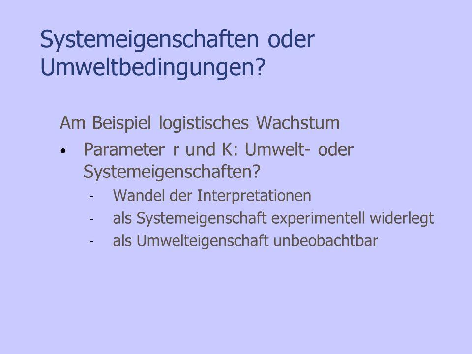 Systemeigenschaften oder Umweltbedingungen