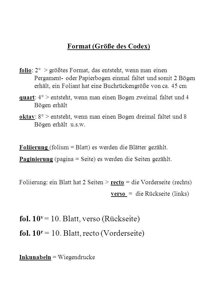 Format (Größe des Codex)