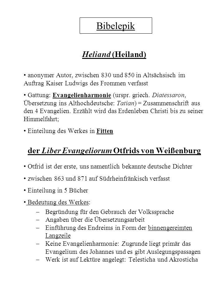 der Liber Evangeliorum Otfrids von Weißenburg