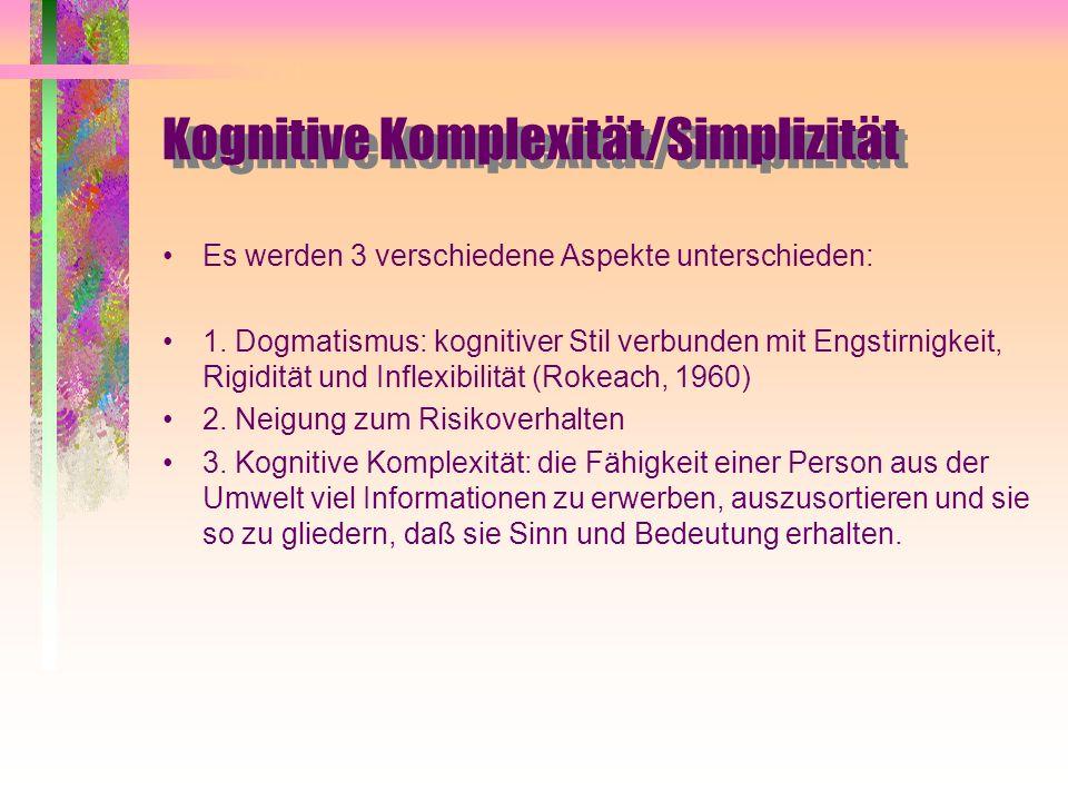 Kognitive Komplexität/Simplizität
