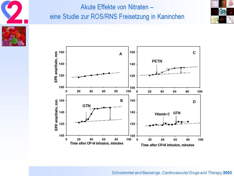 Akute Effekte von Nitraten – eine Studie zur ROS/RNS Freisetzung in Kaninchen