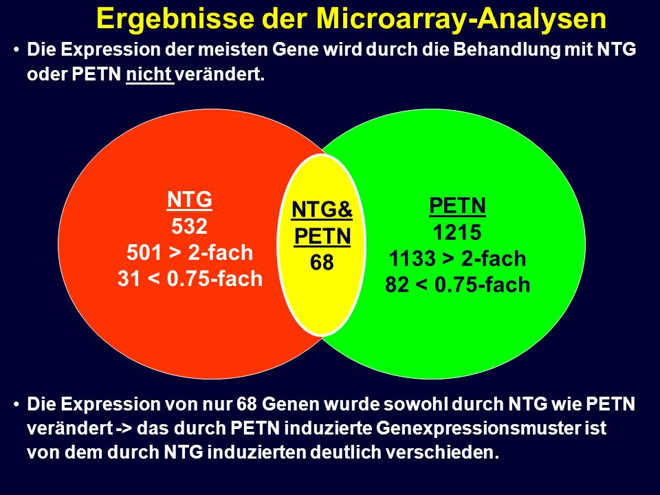 Ergebnisse der Microarray-Analysen