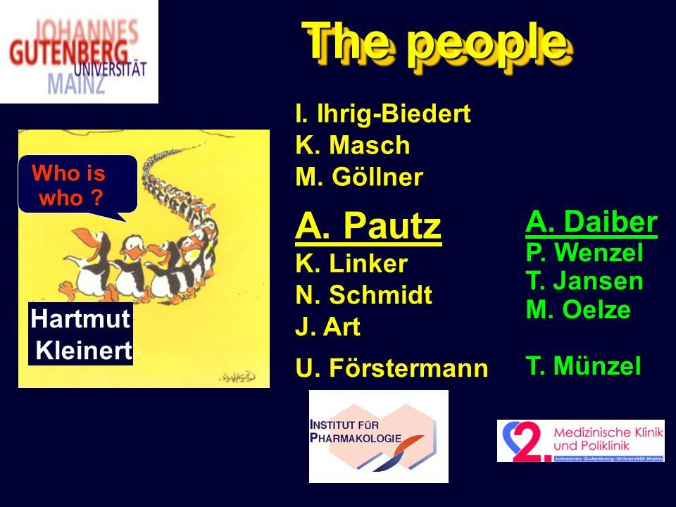 The people A. Pautz A. Daiber I. Ihrig-Biedert K. Masch M. Göllner