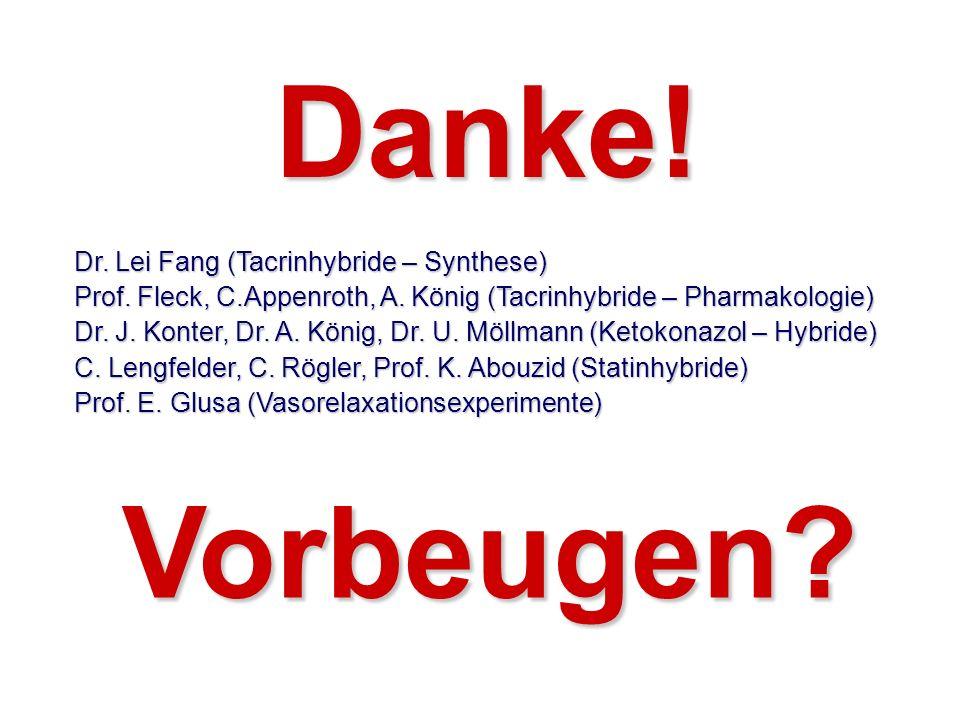 Danke! Vorbeugen Dr. Lei Fang (Tacrinhybride – Synthese)