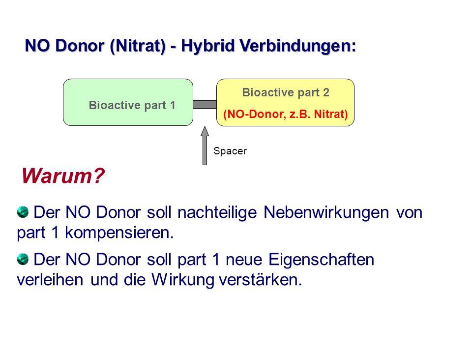 Warum NO Donor (Nitrat) - Hybrid Verbindungen:
