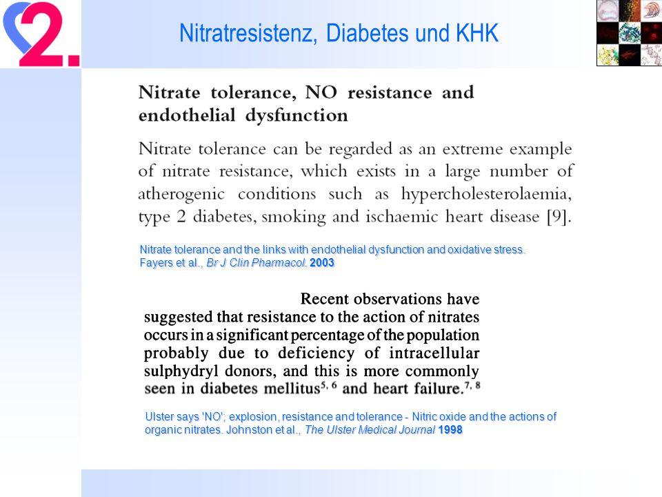 Nitratresistenz, Diabetes und KHK