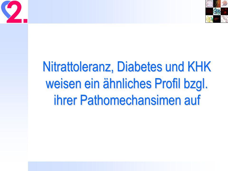Nitrattoleranz, Diabetes und KHK weisen ein ähnliches Profil bzgl