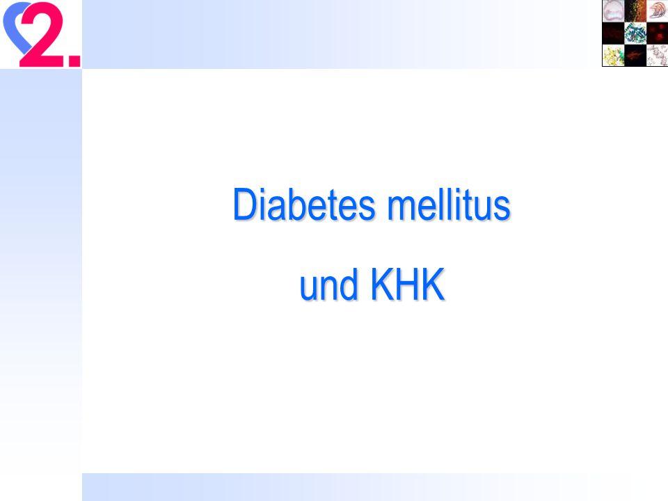 Diabetes mellitus und KHK