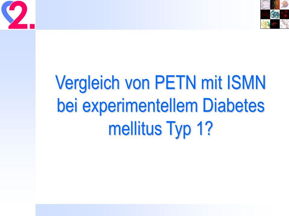 Vergleich von PETN mit ISMN bei experimentellem Diabetes mellitus Typ 1