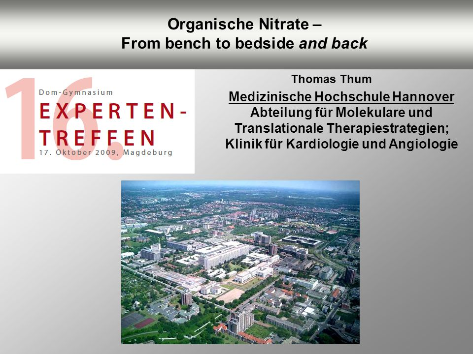 Organische Nitrate – From bench to bedside and back