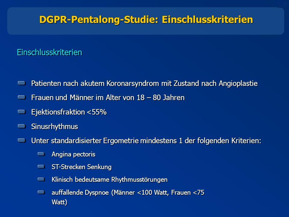 DGPR-Pentalong-Studie: Einschlusskriterien