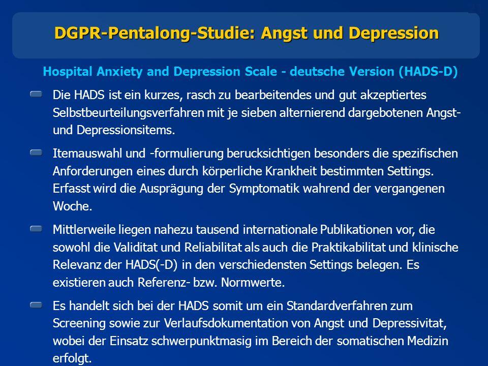 DGPR-Pentalong-Studie: Angst und Depression