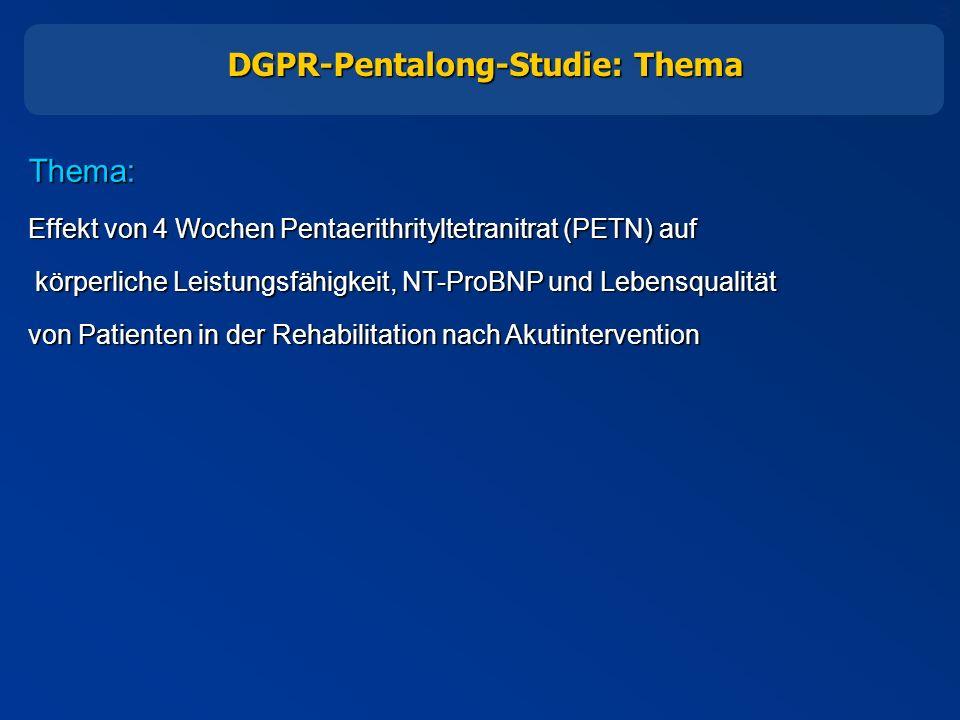 DGPR-Pentalong-Studie: Thema