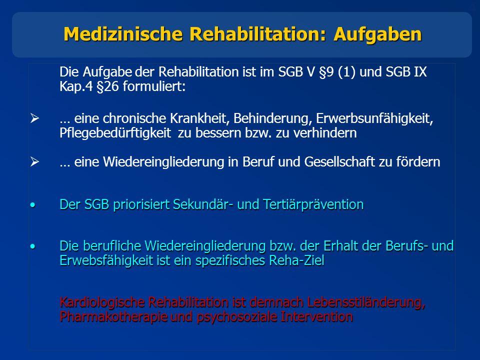 Medizinische Rehabilitation: Aufgaben