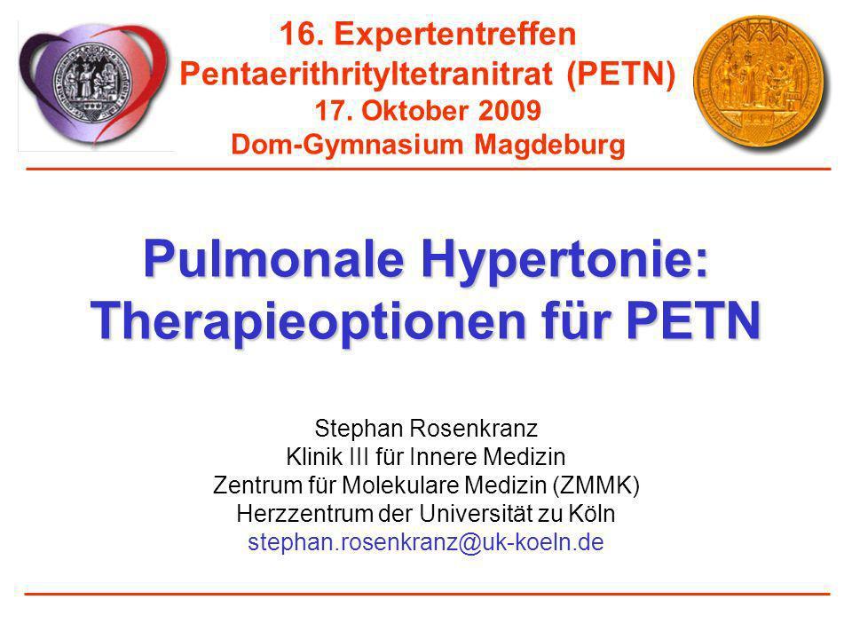 Pulmonale Hypertonie: Therapieoptionen für PETN