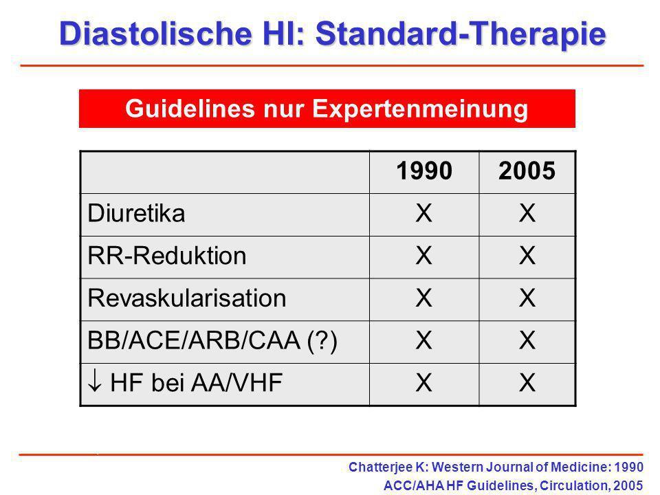 Diastolische HI: Standard-Therapie Guidelines nur Expertenmeinung