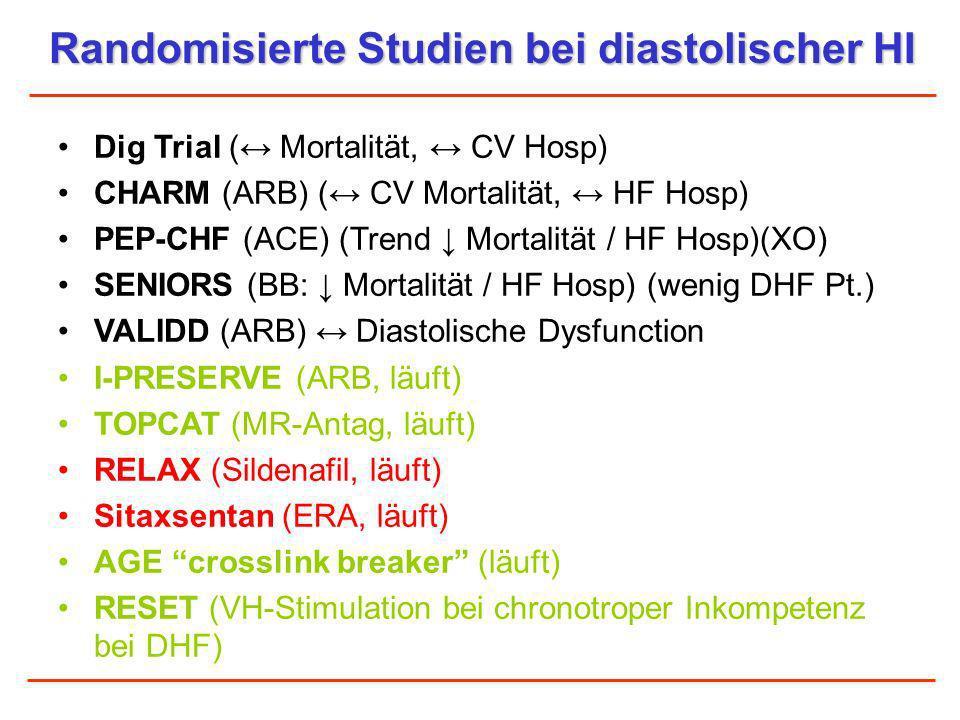 Randomisierte Studien bei diastolischer HI