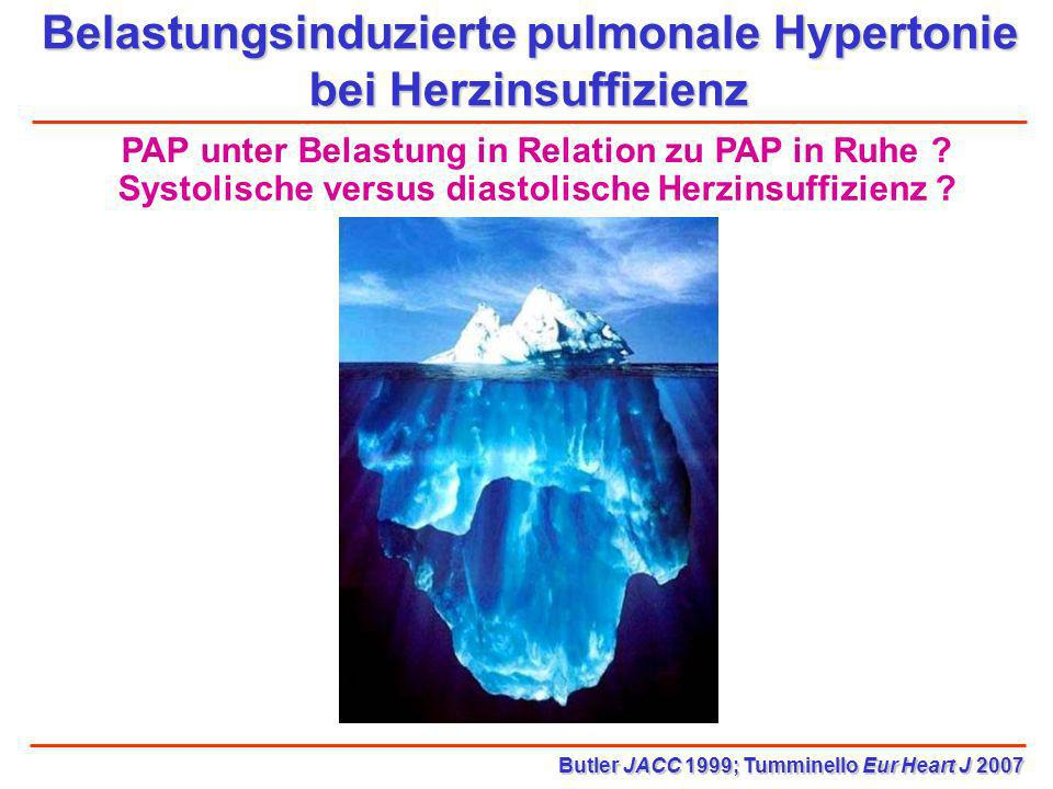 Belastungsinduzierte pulmonale Hypertonie bei Herzinsuffizienz