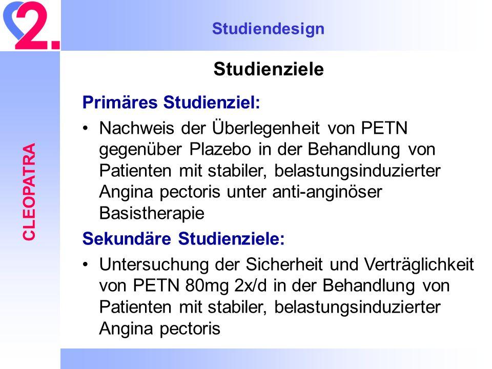 Studienziele Primäres Studienziel: