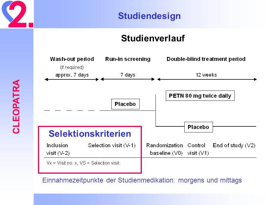 Studiendesign CLEOPATRA Selektionskriterien