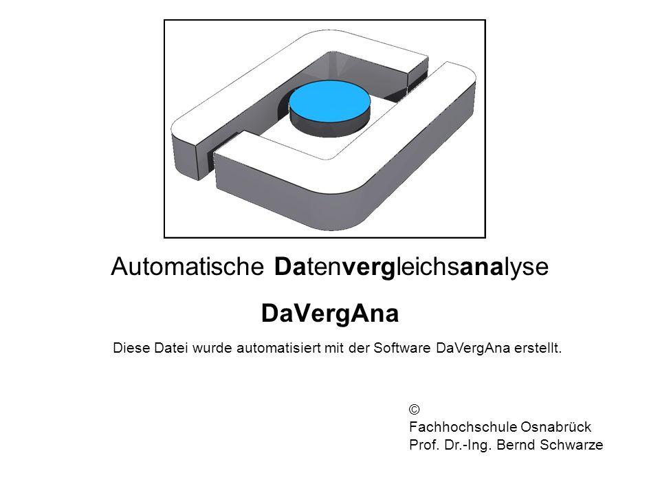Automatische Datenvergleichsanalyse DaVergAna