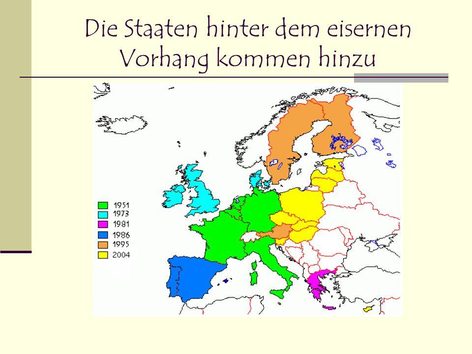 Die Staaten hinter dem eisernen Vorhang kommen hinzu