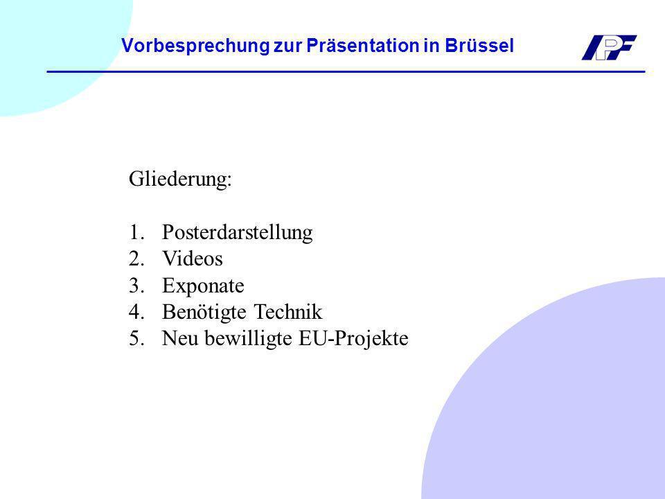 Vorbesprechung zur Präsentation in Brüssel