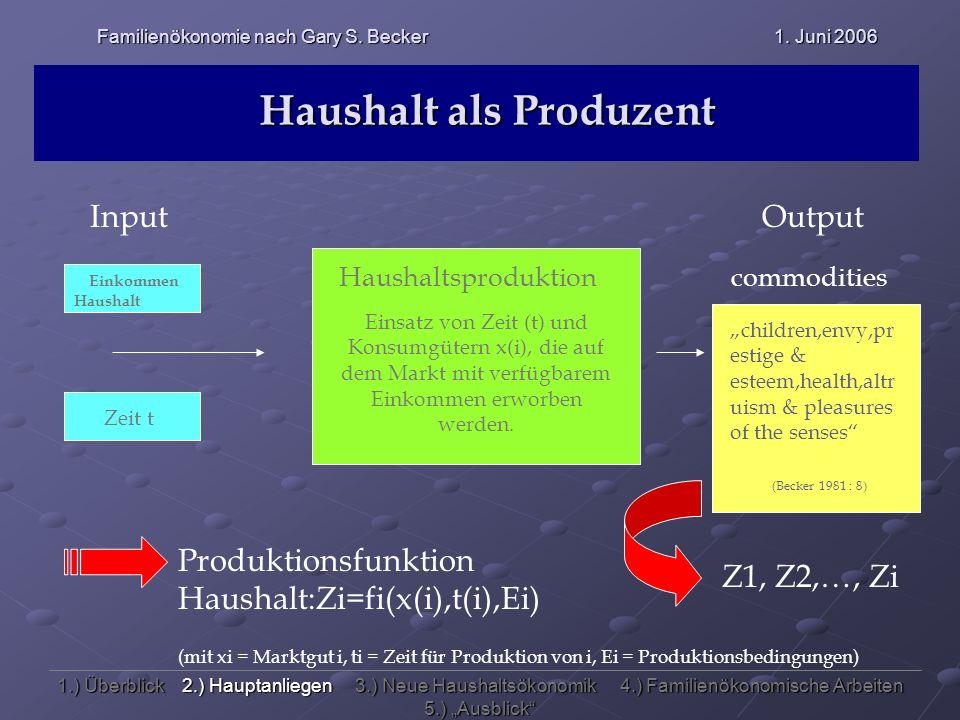 Haushalt als Produzent