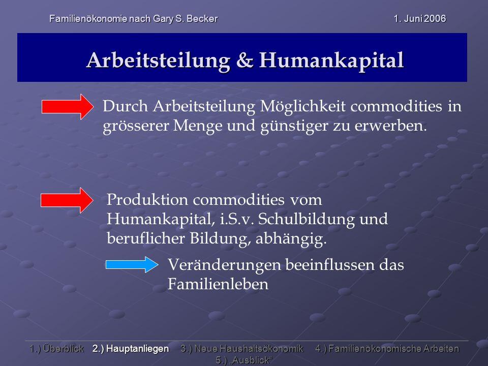 Arbeitsteilung & Humankapital