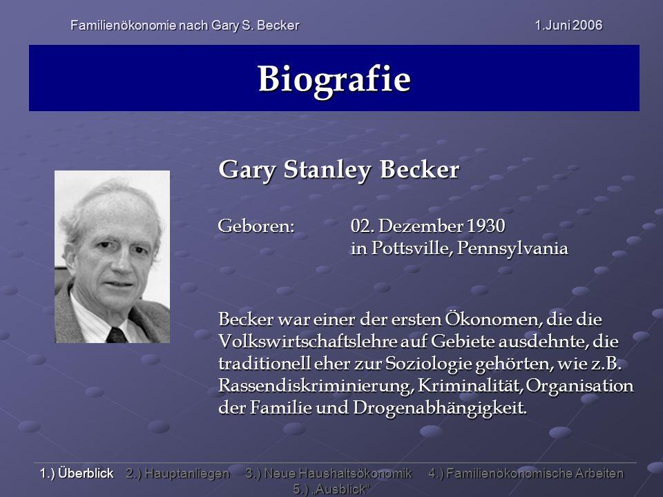 Familienökonomie nach Gary S. Becker 1.Juni 2006