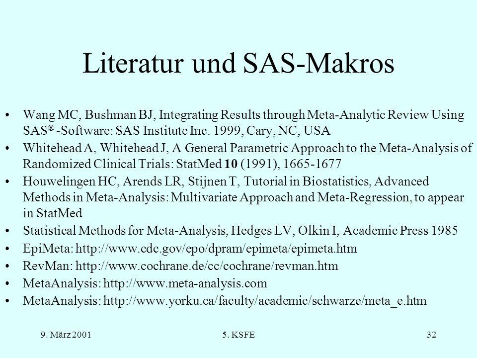 Literatur und SAS-Makros