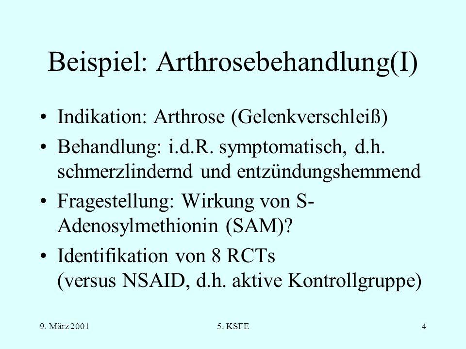 Beispiel: Arthrosebehandlung(I)