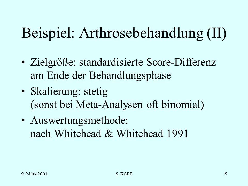 Beispiel: Arthrosebehandlung (II)