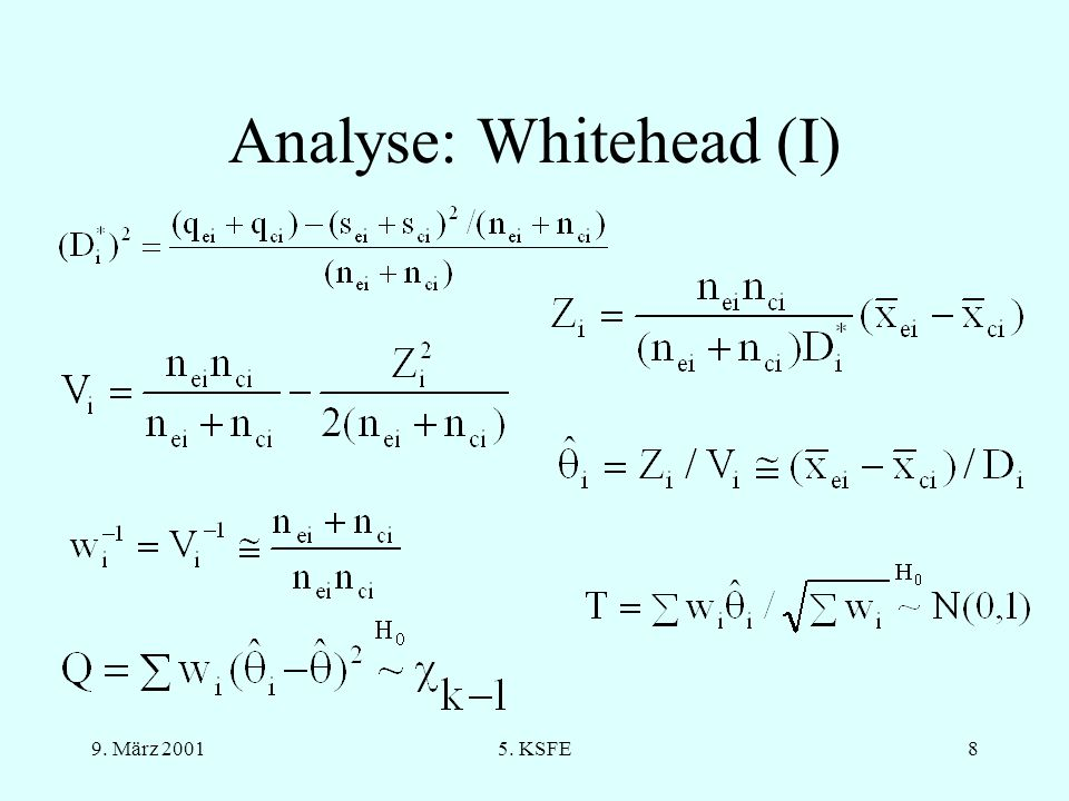 Analyse: Whitehead (I)
