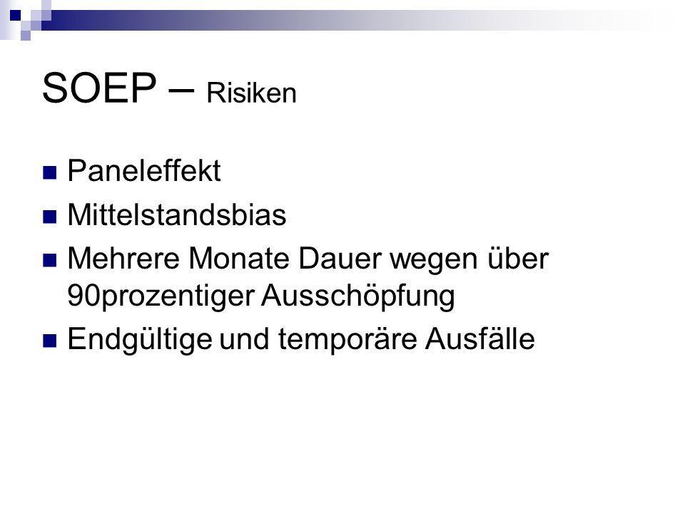 SOEP – Risiken Paneleffekt Mittelstandsbias