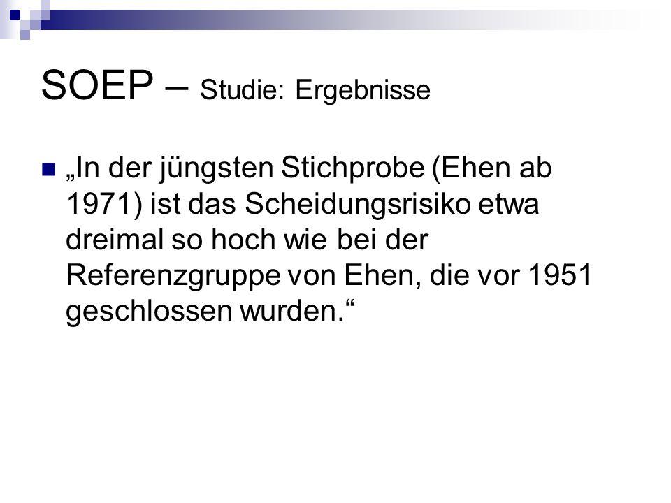 SOEP – Studie: Ergebnisse