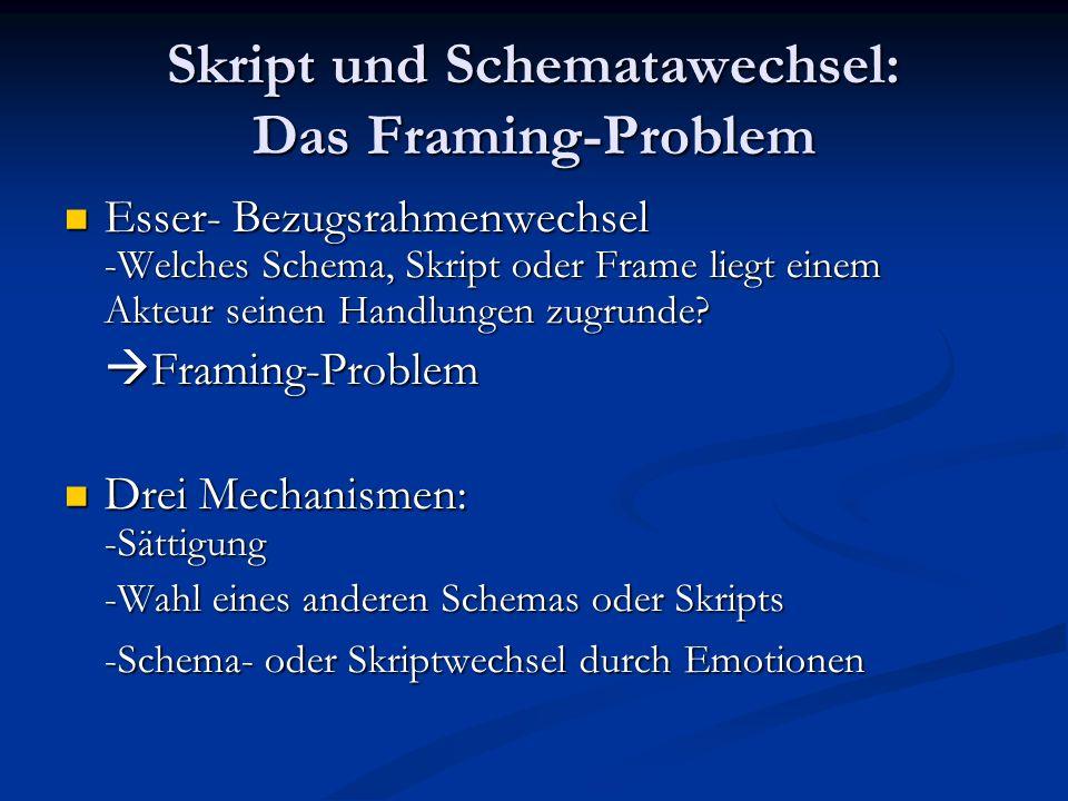Skript und Schematawechsel: Das Framing-Problem