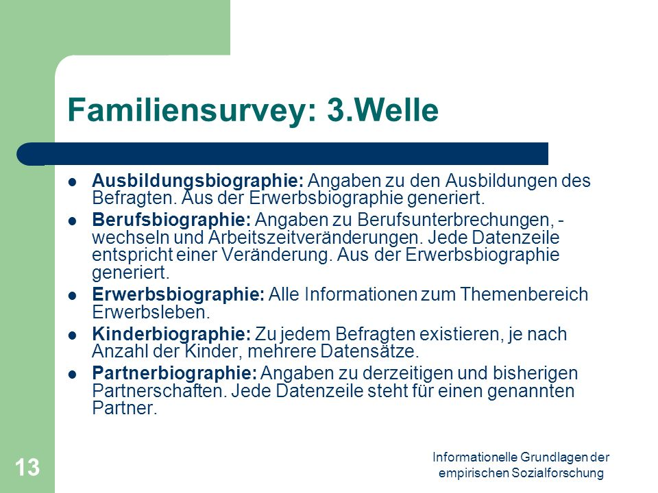 Familiensurvey: 3.Welle