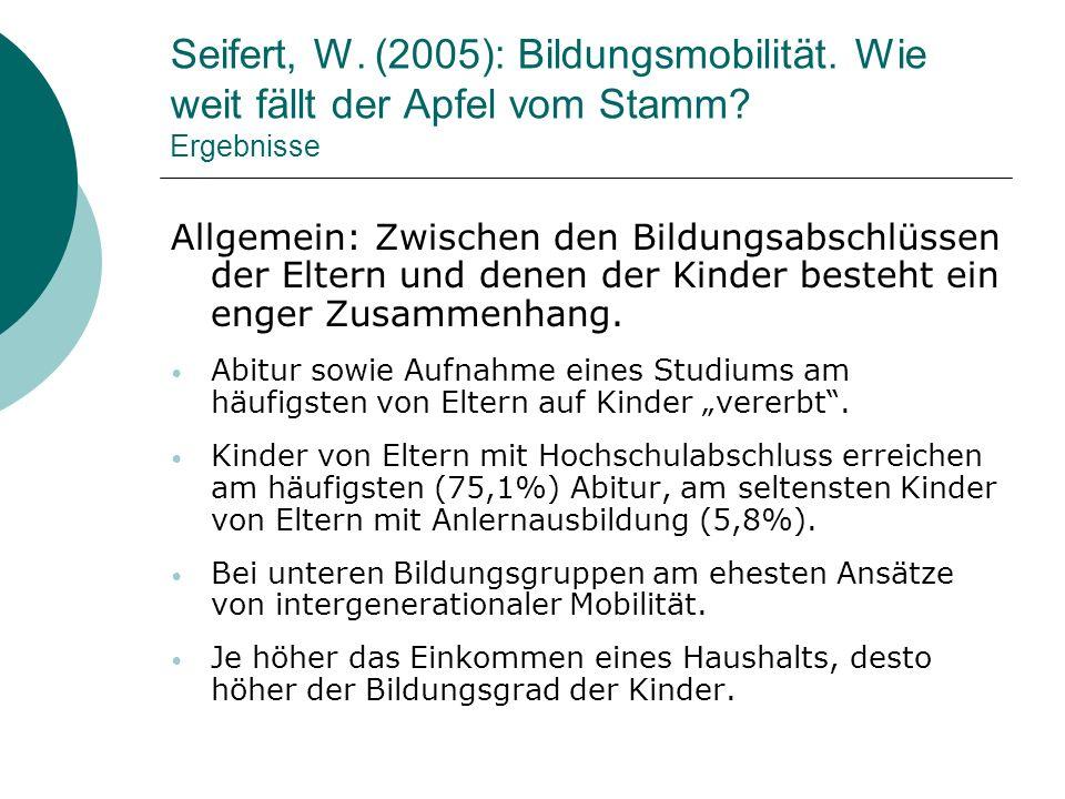 Seifert, W. (2005): Bildungsmobilität